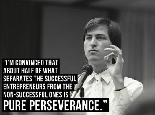 Steve Jobs on perseverance